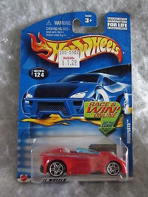 Hot Wheels 2002  Monoposto  #124   Red  1:64 scale  NOC  w-12