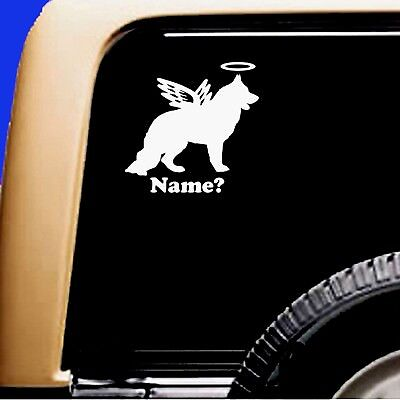 Dog Memorial German Shepherd Long Hair Angel Decal Sticker RV Truck Shiloh - CA$6.00
