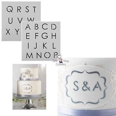 Cake Star ALPHABET Letters Stencil Cake Decorating Sugarcraft Art & Craft