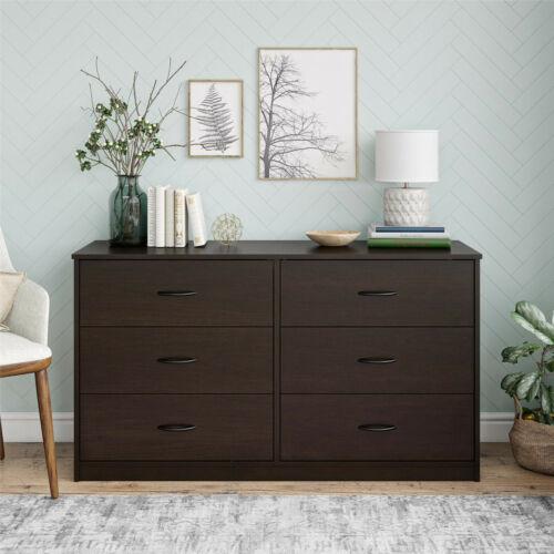 Mainstays Classic 6 Drawer Dresser, Espresso Finish, DW37201.
