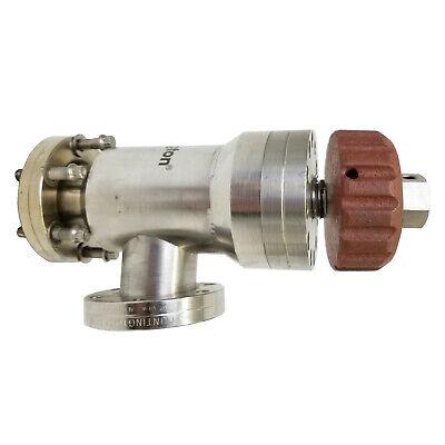 Huntington Mv-150 Manual Bakeable High Temperature Right Angle Valve 2.75 Flange