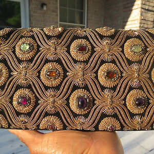 RARE-ANTIQUE-GENUINE-Designer-Vintage-Van-Cleef-and-Arpels-Jeweled-Bag-Clutch