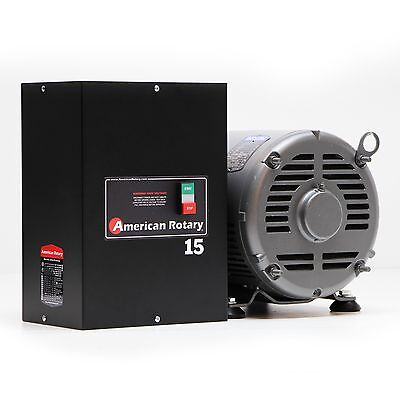American Rotary Phase Converter AR15 - 15HP 1 to 3 Three PH Made is USA ()