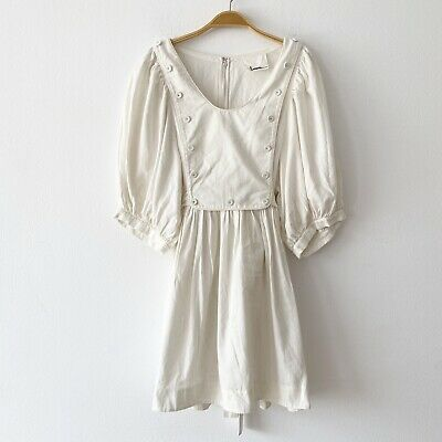 3.1 Phillip Lim Puffy Sleeve Babydoll Tie-Back Dress