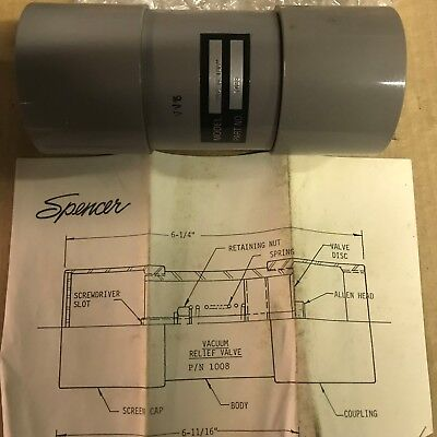 Spencer Relief Valve Pv5 - Vacuum And Pressure Pn 1015