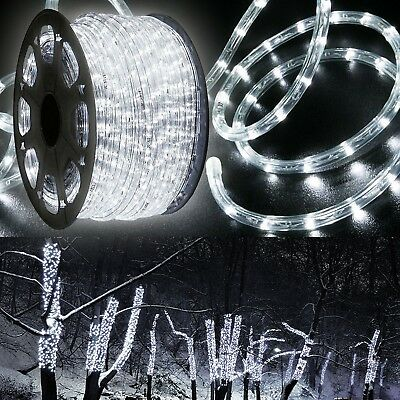 Cold-hearted White LED Rope 150ft 110V 2 Wire Flexible DIY Lighting Outdoor Christmas