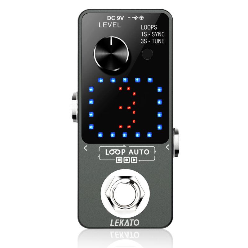 LEKATO Looper Guitar Effect Pedal Wave per 18 Mins 3 Slots Loop Recording Tuning
