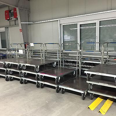 Transportwagen, Plattformwagen, Rollwagen, Schiebebügelwagen 80 x 120 cm