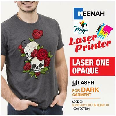 Heat Transfer Paper Laser 1 Opaque Iron-on- For Darks 20 Sheets Neenah 8.5 X 11