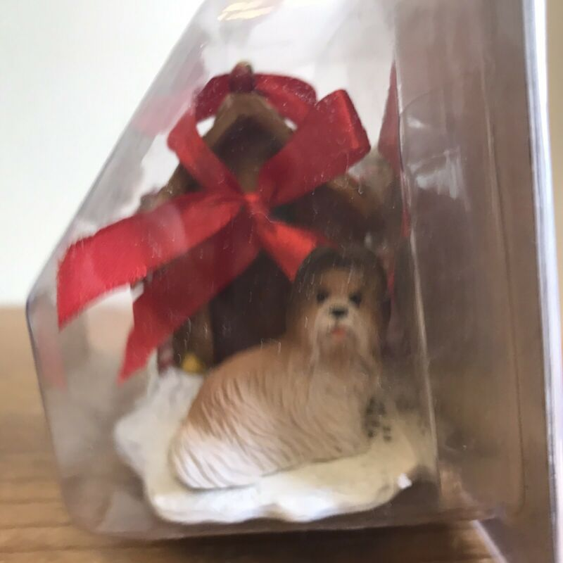 Shih Tzu Christmas Ornament Gingerbread House Tan Dog Ornament New Gift