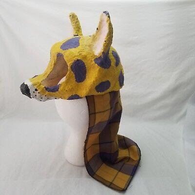 Vintage Paper Mache Mask Halloween Wolf Head Rare Kids  - Paper Mache Heads Halloween
