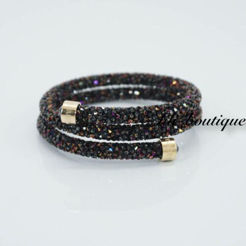 NIB Swarovski 5380085 Crystaldust Double Bangle Bracelet Multi Size S 4.8 cm $89