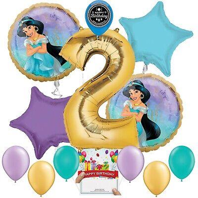Princess Jasmine Birthday Party Supplies (Disney Princess Jasmine Party Supplies Balloon Decoration Bundle 2nd Birthday)