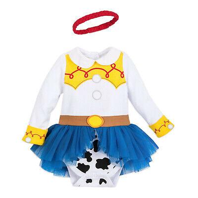 NWT Disney Store 6 9 12 18 24 M Toy Story Jessie Baby Costume Dress & Headband