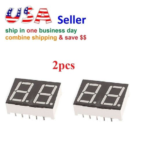 2pcs 2 Digit Red 7 Segment LED Display Digital Tube Common Anode 10 Pins Arduino