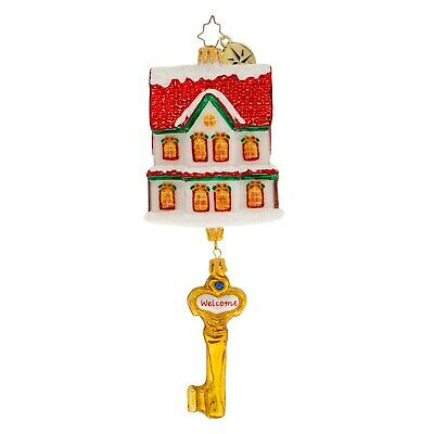 [NEW Christopher Radko OUR FIRST HOME! Christmas Ornament 1020051</Title]