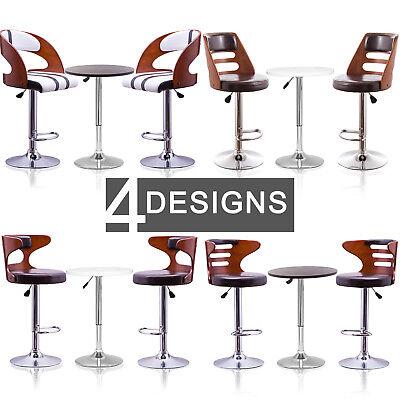 2x Bar Stools Faux Leather Barstool Kitchen Pub Stool Bar Table / Stool Chair UK