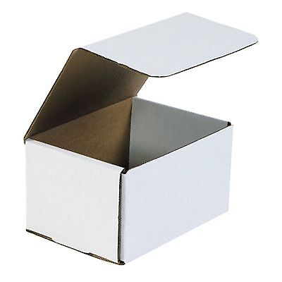50 Of 6 X 3 58 X 2 Small White Cardboard Carton Mailer Shipping Box Boxes