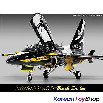Academy 12242 1/48 Plastic Model Kit ROKAF T-50B Black Eagle Made in Korea