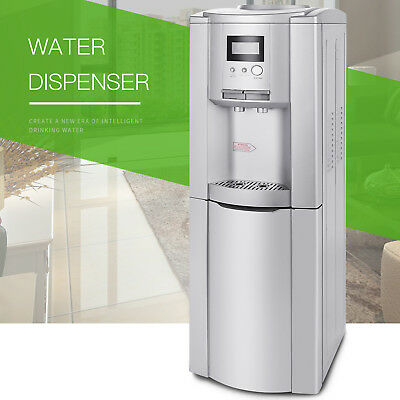 - Electric Hot Cold Water Cooler Dispenser Stainless Steel Top Loading 5 Gallon
