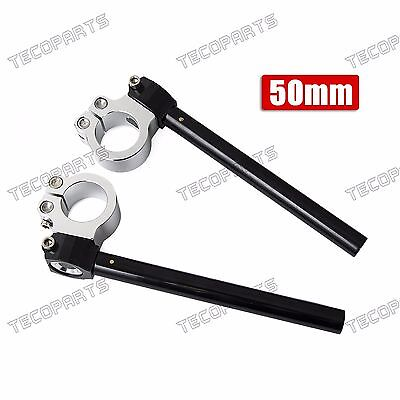 50mm Clip Ons Handlebars - Motorcycle CNC Clip-on Ons 7/8