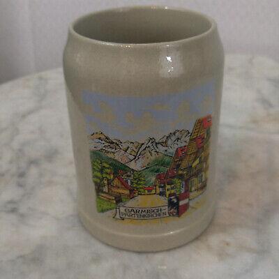 Garmisch Partenkirchen  Beer Stein German Bier Mug Stonewear 0.5 l Germany