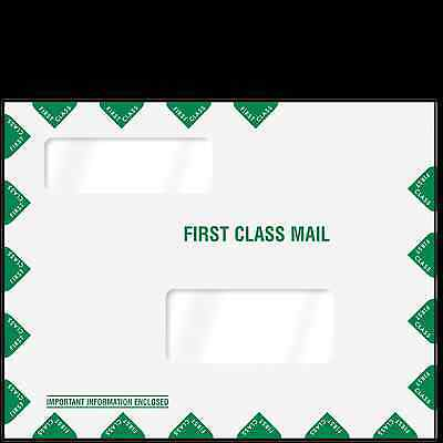 Double Window First Class Mailing Envelope - Landscape (9x11.5) First Class Window Envelopes