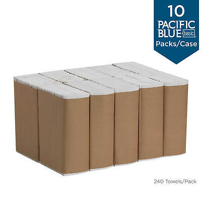 Pacific Blue Basic Paper Towel C-Fold White 1-Ply 3-1/4 X 10