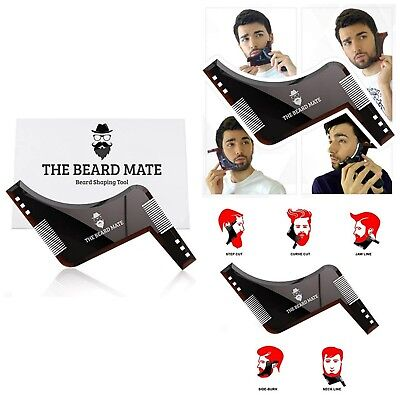 Beard Mustache Goatee Liner Lining Styling Template Shaping Tool Grooming Kit