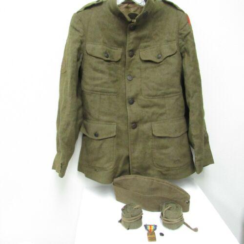 WW1 US Army Uniform 78th Infantry 309th Field Artillery + Cap, Puttees, W. Woolf