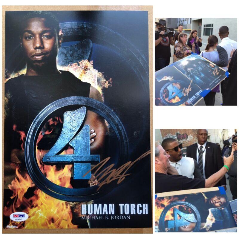 Michael B Jordan Black Panther Creed Autograph Signed Sasigned PSA COA PROOF