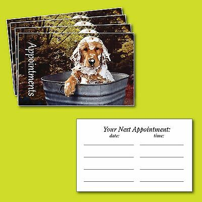 Dog Grooming Appointment Cards , Puppy Pampering x 100 cards