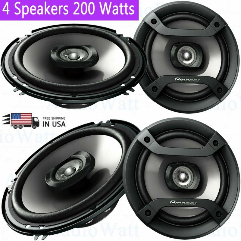 "4x Pioneer TS-F1634R 6.5"" 200 Watts 2-Way Car Audio Amplifier 6-1/2"" Speakers"