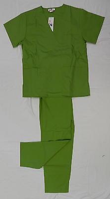 Scrub Set XS Island Green Expo 114 V Neck Elastic Waist Medical Uniform New ()