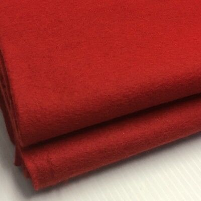 """100% Wool Felt Fabric True Christmas Red Large Piece 81"""" x 72""""  5832 Sq. Inches"""