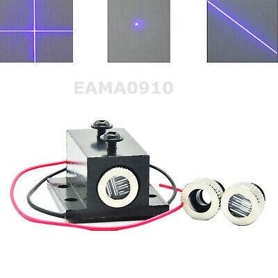 Focusable 405nm 10mw Dotlinecross Violetblue Laser Diode Module W Heatsink