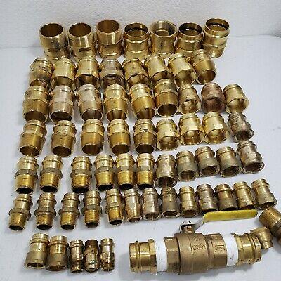 Lot Of 66 Propress Brass Male Female Adapter - Press Brass Adapter 12 To 2