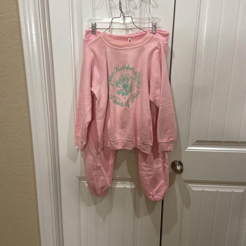 Vintage Alpha Kappa Alpha Sorority Sweatshirt And Pants Sz Med   1980s