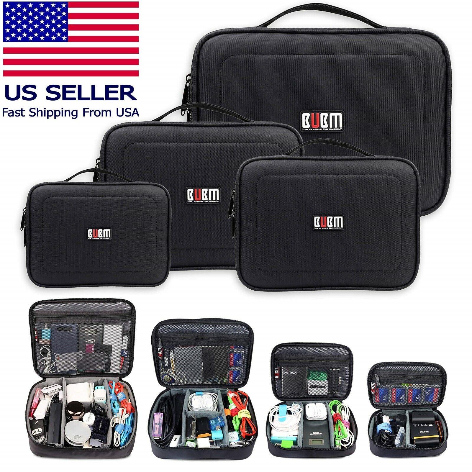BUBM 4Pc Electronic Travel Case Bag Set Tablets,Phones, Flash Drives, Power Bank Home & Garden