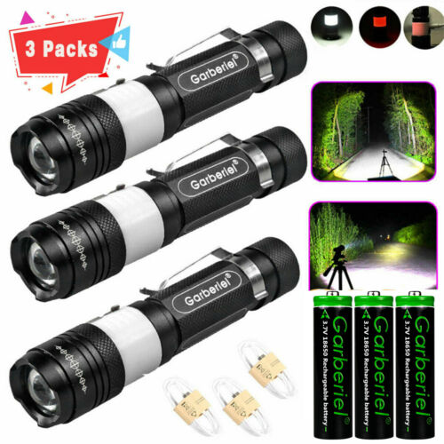 Tactical Police 90000Lumens LED USB Rechargeable Flashlight