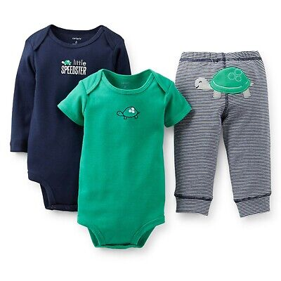 Carters Newborn Boys Turtle Little Speedster Outfit Bodysuits and Pants comprar usado  Enviando para Brazil