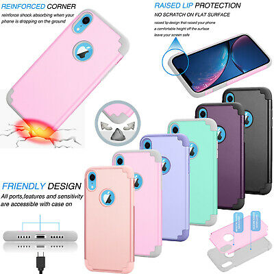 For iPhone XR/XS/X Silicone Shockproof Ultra Slim Hard Plastic Phone Case Cover ()