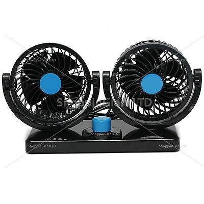 12V DUAL AIR FAN 360 <em><em>ALL</em></em> ROUND ROTATION AUTO</em>...