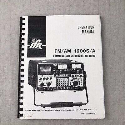 Ifr Fmam 1200sa Communications Monitor Operation Manual