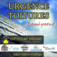 URGENCE INFILTRATION / 819-698-7529/ Toitures Sirois