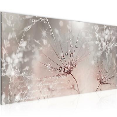 Wandbild Blumen XXL 100x40 cm Pusteblume Bilder Bild Vlies Leinwand Wohnzimmer