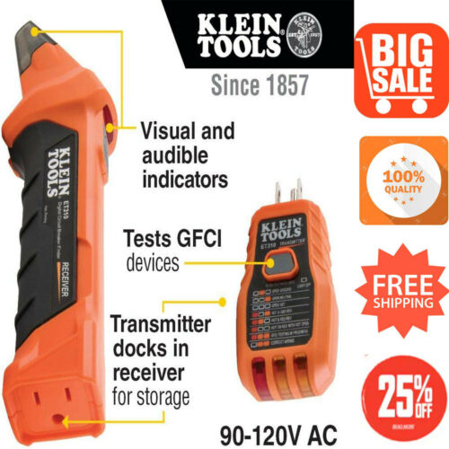 Klein Tools ET310 AC Circuit Breaker Finder with Integrated GFCI Outlet Tester