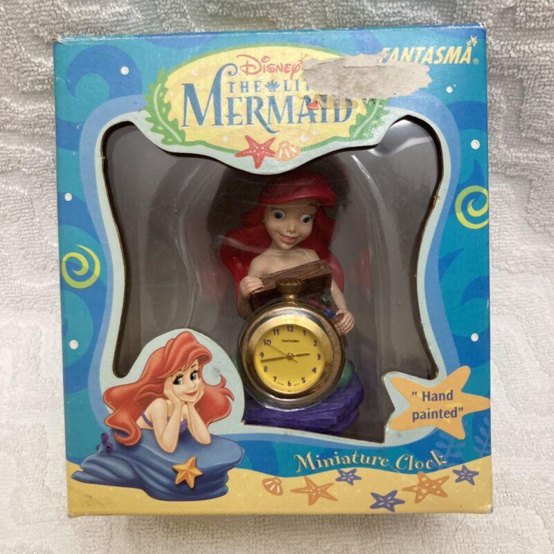 Rare Vintage Fantasma The Little Mermaid Miniature Clock NIB