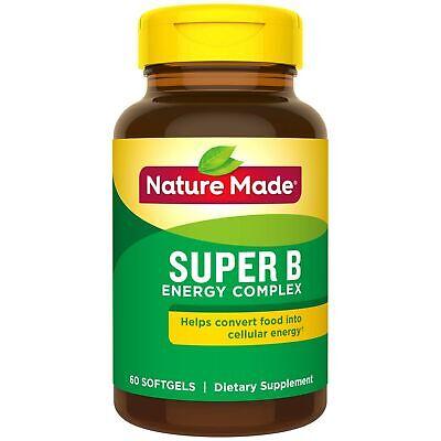 Nature Made Super B Complex Full Strength Mini Softgels 60 C