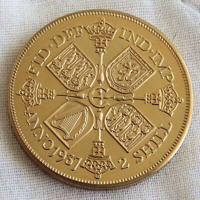 EDWARD VIII 1937 GOLDEN ALLOY PROOF PATTERN SHIELD FLORIN - mintage 18